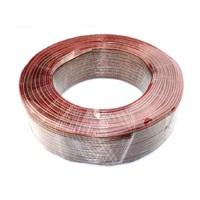Audiokabel 2x 2.5mm², rood/zwart per 100 meter