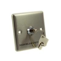 Conas deur/exit knop, staal, sleutelschakelaar