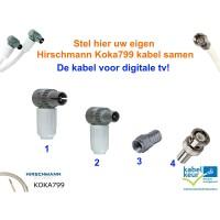 Stel Hier Uw Eigen Hirschmann Koka799 Coaxkabel Samen