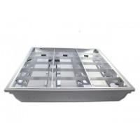 LED inbouwarmatuur, 59.5 x 59.5cm, voor 3 buizen