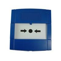 Handmelder met flex element en 2 contacten, blauw
