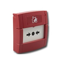 Handbrandmelder met flexibel element, rood