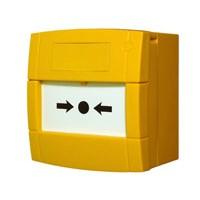 Handmelder met flex element en 2 contacten, geel