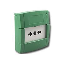 Handmelder met flex element en 2 contacten, groen
