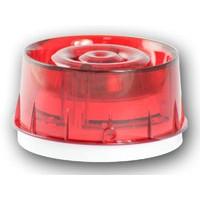 Sirene met ingebouwde flitser, rood en rode lens