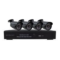 Kit: 4-kanaals NVR 960P, 4x 960P IP camera's