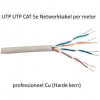 UTP CAT 5e Netwerkkabel professioneel Cu (Harde kern) 50 meter