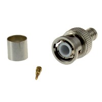 BNC male krimp connector voor RG6 coax kabel