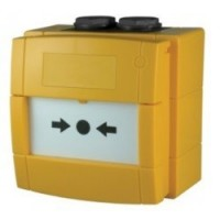 Handmelder met 470 Ohm flex element, geel, IP67