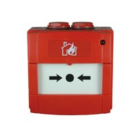 Handmelder met flex element, rood, IP67
