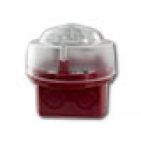 Flitser, rode diepe onderbak met witte LED,IP65