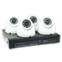4-kanaals NVR 960P (1.3mp), 4x 960P IP dome