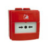 Handmelder met 470 Ohm flex element, rood, IP67